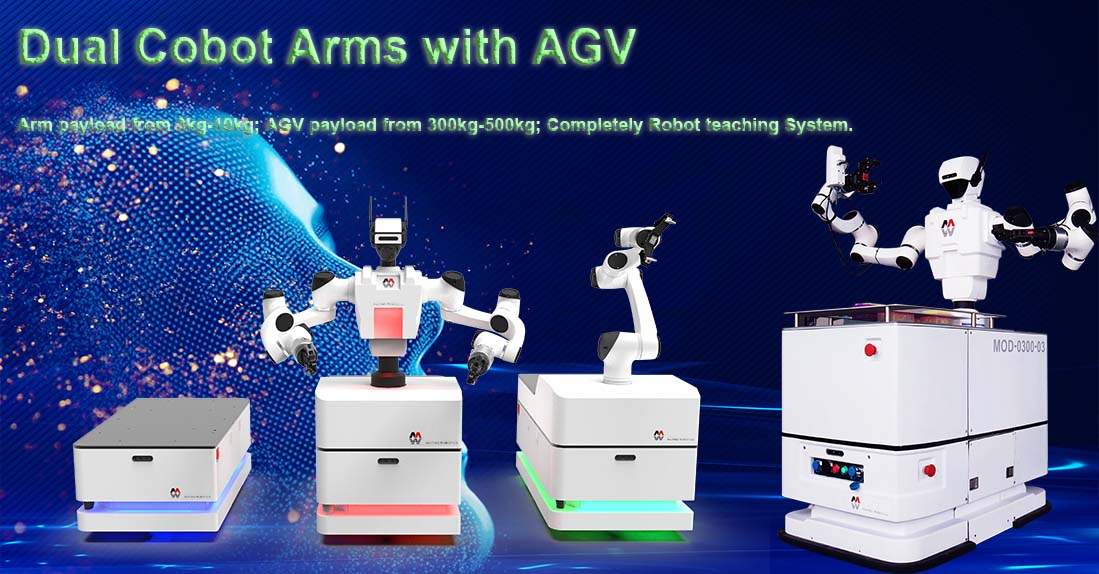 Dual Cobot Arms with AGV